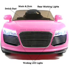 Audi R8 Style Kids Ride on 12v Electric Battery Powered Childrens Toy Car PINK