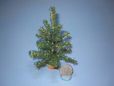 "DOLLHOUSE MINIATURE CHRISTMAS TREE FIR/PINE/EVERGREEN 5"""
