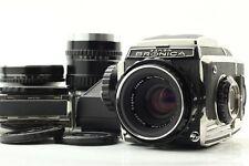 【Exc++++】 Bronica S2 Body + 75mm 50mm 135mm Lens + Prism finder + Film Back #235