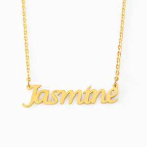 Jasmine Name Necklace Stainless Steel/ 18ct Gold Plated | Fashion Designer Gifts