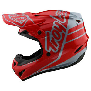 Troy Lee Designs GP Silhouette Red Silver Adult Large  MX Helmet TLD Motocross