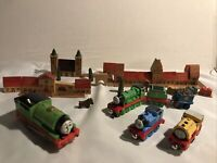 Thomas The Tank Engine Bundle Mattel Percy Bill Trains And Buildings