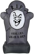 Gemmy Airblown Inflatable Halloween Friendly Tombstone 3' tall