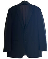 Mens Blazer Sport coat Jacket Michael Kors 46XL 100% Wool CHARCOAL BLACK