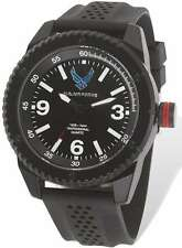 US Air Force Wrist Armor C20 Watch, Black/White Dial & Black Rubber Strap