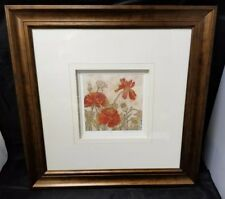 "Megan Meagher Floral Print Signed #244/950 Framed 18""X18"", 6.5""×6.5"" Limited"