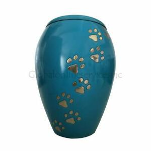 Pet Cremation Urns UK, Monarch Blue Climbing Paw Urn Ashes