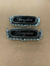 NOS 1969 Mercury Marquis Montego Brougham Chrome Emblem Trim Pair