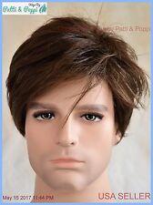 Men's Wig  Color Mediium Brown New Man Wig Men 1201