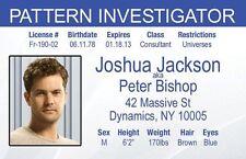 Joshua Jackson Fringe Peter Bishop Pattern Investigator fbi Drivers License