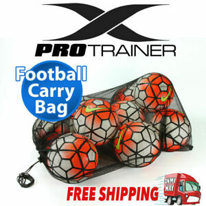 MESH FOOTBALL CARRY BAG Soccer Ball Sports Training Boxing Gloves Rugby AFL Goal