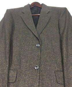 40R John Ashford Mens 2 Bttn Wool Camel Hair Blazer Sport Jacket Chestnut Exc!