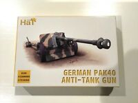 Hat 8150 German Pak 40 Anti-Tank Gun Set With 4 Cannon & Crews 1/72 Scale