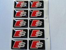 10 Logo SLINE Sticker AUDI 3D Emblème Insigne Jantes Volant Autocollant 19X11mm