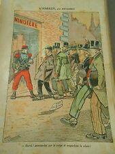 L'assaut Hardi passons lui sur le corps Humour Print 1914