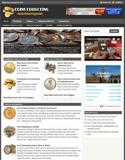 COIN COLLECTING GUIDE - Responsive Niche Website For Sale - Free Installation