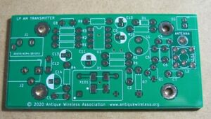 AM Transmitter Bare Printed Circuit Board – Vintage Antique Radio - Ham