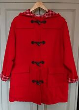 Vintage duffle-coat 16 18 Red Navy m&s 100% laine Paddington bascule