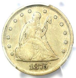 1875-P Twenty Cent Coin 20C - PCGS VF Details - Rare Date 1875 Coin!