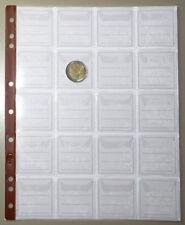 FOGLI per MONETE da 20 CASELLE inserto UNI masterphil PACCO 10 FOGLI pagine