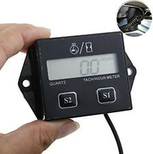 Racing Motorcycle ATV Digital Engine Tach Tachometer Hour Meter Inductive Gauge
