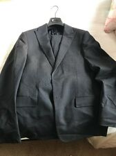Versace Collection Suit Navy Solid Size 48 S  Msrp 1500$