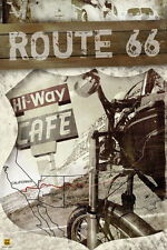 TRAVEL POSTER Route 66 Map