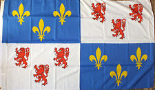 Picardy France Flag 5x3 French Region Francais Picardie Somme Calais Medieval bn
