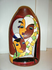 KERAMOS 1141 Israel Rare Jewish Judaica Hand Made Ceramic Vase Pot Pottery