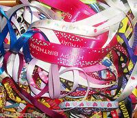 10 x 1 metre of Assorted Random Colours & Widths Mixed Ribbon Off Cuts Bundle