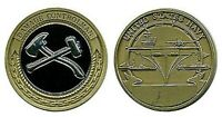 """NAVY 1.75"""" DAMAGE CONTROL DC CHALLENGE COIN"""