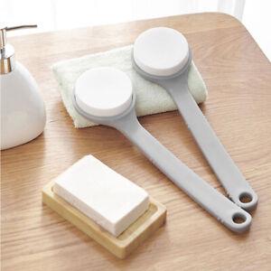 Body Brush Shower Scrubber Lotion Applicator Sponge Bath Back Brush Long Handle