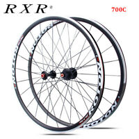 RXR 700C Road Bike Wheels Front Rear 7/8/9/10/11s Clincher Rim Aluminum Alloy