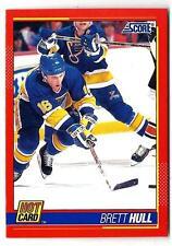 1991-92 Score Hot Card BRETT HULL (ex-mt) St. Louis Blues