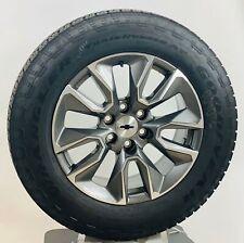 "New Takeoff 20"" Chevy Silverado Tahoe Gunmetal Wheels Goodyear A/T Tire Tpms"