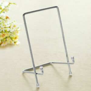 Assorted Silver Iron Display Easel Stand Plate Bowl Photo freeshippng
