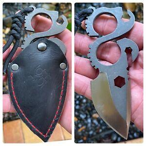 Koch Tools Solo Slice Compact Neck Knife BottleOpener MultiTool D2 Fixed Blade