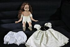 """VINTAGE MUNECAS GELI DOLL 20"""" DOLL WITH ORIGINAL CLOTHING FOR RESTORATIONS"""