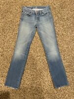 7 For All Mankind Jeans Womens Slim Blue Size 24x30 Vintage EUC!