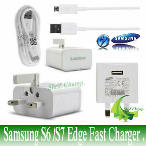 New Wall Mains Fast Charger Plug for Galaxy S6/S7 Edge, S7, Note 4 5(with cable)