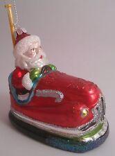 Celebrate It Bumpercar Santa Glass Blown Christmas Ornament New Bumper Car Ride