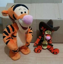 "Bouncing Talking TIGGER (1998)Disney Winnie The Pooh 12"",and cow boy tigger plus"