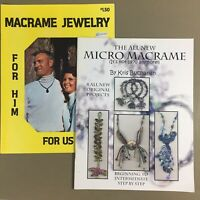 Lot of 2 macrame jewelry craft books The New Micro Macrame & Macrame Jewelry