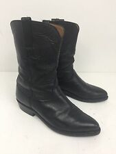 Lucchese Mens Black Western Cowboy Boots Size 7D In Mint Condition