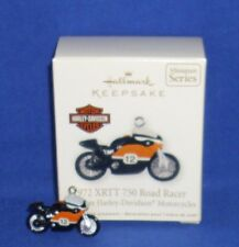 Hallmark Miniature Ornament Harley Motorcycle 2012 1972 XRTT 750 Road Racer #2