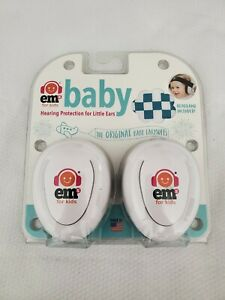 Ems for Kids Baby Earmuffs Infant Hearing Protection White with Blue/White G13