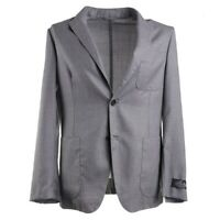 NWT $2195 BELVEST Soft-Constructed Lightweight Gray Wool Sport Coat Slim 42 R