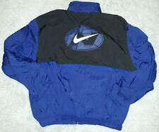 VTG Nike Nylon Track Suit Jacket Colorblock Spellout Swoosh Windbreaker XL Men
