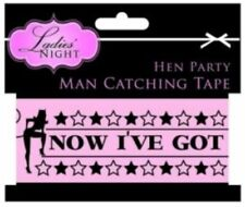 Hen Party Essential MAN CATCHING TAPE 10m Banner Girls Night Novelty Gift