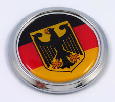 Germany Decal German Round Flag Car Chrome Emblem Sticker bumper badge 3D